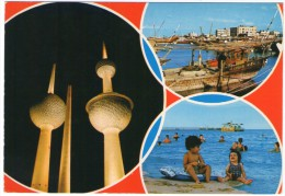 KUWAIT - VIEWS TOWERS-BOATS-SEA SIDE - Kuwait