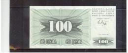 Narodna Banka Bosne I  Hercegovine , 100 Dinara ,  Pick #13 - Bosnien-Herzegowina