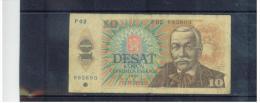 TSCHEHOSLOWAKEI , CZECHOSLOVAKIA   ,  1988  ,  10 Korun  ,   Pick# 95  ,   Circ - Tchécoslovaquie