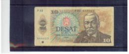TSCHEHOSLOWAKEI , CZECHOSLOVAKIA   ,  1988  ,   10 Korun  ,   Pick# 95   ,  Circ - Tschechoslowakei