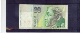 SLOWAKEI , SLOVAKIA  ,  1.9. 1993   ,   20 Korun     ,  Pick# 20   ,   Circ - Slowakei