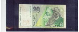 SLOWAKEI , SLOVAKIA  ,  1.9. 1993   ,   20 Korun     ,  Pick# 20   ,   Circ - Slovakia