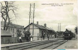 SARTHE 72.SCEAUX SUR HUISNE GARE DE SCEAUX BOESSE PASSAGE D UN EXPRESS - France
