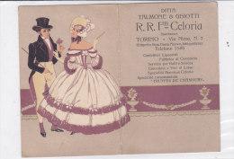 CALENDARIETTO SEMESTRINO PUBBLICITARIO DITTA TALMONE &GHIOTTI TORINO 1912 -2 -0882-18139-138 - Calendars
