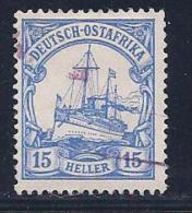 German East Africa, Scott # 25 Used Kaiser's Yacht, 1905 - Colony: German East Africa