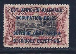 German East Africa, Scott # N22 Mint Hinged Belg. Congo Stamps Overprinted, 1916 - Colony: German East Africa