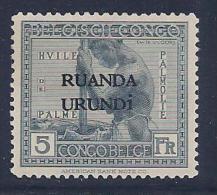 Ruanda Urundi, Scott # 22 Mint Hinged  Bel. Congo Stamps Overprinted, 1924 - 1924-44: Mint/hinged