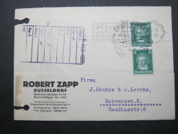 1928, Firmenlochung, Perfin, Karte Aus Düsseldorf - Germany