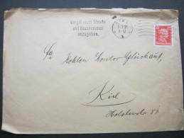 1928, Firmenlochung, Perfin, Brief Aus Kiel - Germany