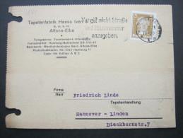 1929, Firmenlochung, Perfin, Karte Aus Altona - Germany