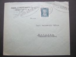 1927, Firmenlochung, Perfin, Brief Aus Franfurt - Germany