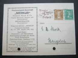 1928, Firmenlochung, Perfin, Karte Aus Bremerhaven - Germany