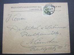1921, Firmenlochung, Perfin, Brief Aus Berlin - Lettres & Documents