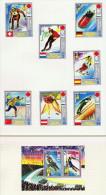 Guinée Équatoriale  Médaillés D'or  7 Timbres Et Un Bloc Tous * MH - Winter 1972: Sapporo