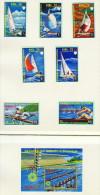 Guinée Équatoriale  Régates Types D'embarcations 7 Timbres Et 1 Bloc Tous * MH - Summer 1972: Munich