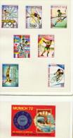 Guinée Équatoriale  Sports: Gymnastique, Sout, Football, Judo, Cyclisme, Plogeon  7 Timbres Rt 1 Bloc  Tous * MH - Summer 1972: Munich