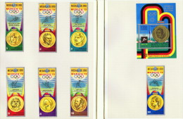 Guinée Équatoriale  Médaillés D'or    7 Timbres Et 1 Bloc  Tous * MH - Summer 1972: Munich