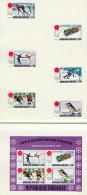 1972  Jeux Olympiques De Sapporo Patinage, Bobsled, Ski, Hockey  6 Timbres 1 Bloc Série Complète . Tous *MH - Togo (1960-...)