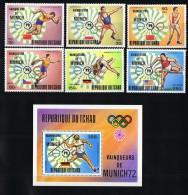 1972  Jeux Olympiques De Munich  Médaillés D'or  Tous * MH - Chad (1960-...)