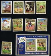 1972  Jeux Olympiques De Munich   9 Timbres + 1 Bloc   Tous * MH - 1970-79: Neufs