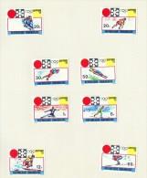 1972  Jeux Olympiques De Sapporo    8 Timbres    Tous * MH - Rwanda