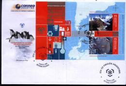 ARGENTINIEN ARGENTINA 2009 ANTARCTIK POLAR JAHRE ANNE POLAIRE ANTARCTIC POLAR YEAR /MAP, BLOC,S/S PREMIERE JOUR/FDC/ETB