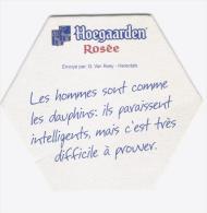 Sous Verre Hoegaarden Rosée - Hexagonal - Humoristique N° 1 - Sous-bocks