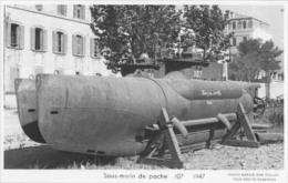 Sous-marin De Poche N°107 (Marine Nationale) - Carte Photo éd. Marius Bar - Bateau/ship/schiff - Submarinos