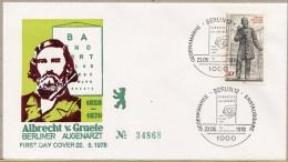 GERMANIA -   FDC  -    ALBRECHT  VON  GRAEFE - [5] Berlino
