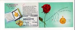 """1965 Calendrier De Poche """"Horlogerie Joaillerie Vendôme à Tours """" / Métiers,commerces,fleurs, Amour - Calendriers"""