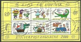 NEDERLAND NETHERLANDS Niederlande 2000 Block No 67 Kinderzeichnungen Childrens Paintings Block O - Blokken