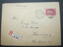 1923,  Einschreiben Mit Einzelfrankatur Aus Frankfurt - Briefe U. Dokumente