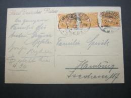 1923, Mehrfachfrankatur Auf Karte - Briefe U. Dokumente