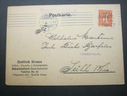 1922, Firmenkarte Aus Schweinfurt - Briefe U. Dokumente