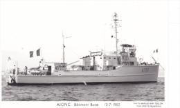 Bateau Marine  Militaire France Ajonc Batiment Base 13-7-1982 Poupe Marius Bar + Equipage - Guerre