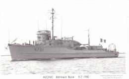 Bateau Marine  Militaire France Ajonc Batiment Base 8-7-1980 Marius Bar + Equipage - Guerre