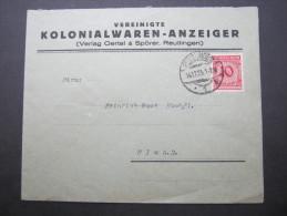 1923, Firmenbrief Aus  Reutlingen - Germany