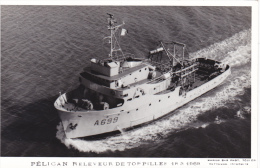 Bateau Marine  Militaire France  A 669 Pelican Releveur De Torpilles 18-3-1969 Marius Bar + Equipage - Guerre