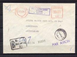 Rumänien,Switzerland, Bukarest 2000 ,EMA, Freistempel, - Marcophilie - EMA (Empreintes Machines)