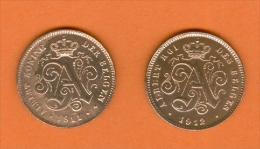 Belgique - 1911 Et 1912 -  2 Centimes Albert 1er - Cuivre - 1909-1934: Albert I