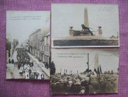 Lot De 3 Cartes De Rocroi Inauguration Du Monument Aux Mort Le 06-09-25 - France