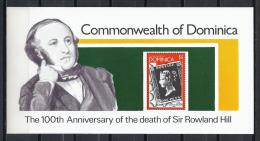 CELEBRIDADES/ROWLAND HILL - DOMINICA 1979 - Yvert #H53 - MNH ** - Rowland Hill