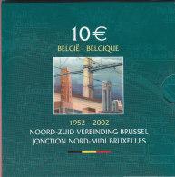 10 EURO Argent JONCTION NORD-MIDI BRUXELLES QP  PROOF-BELLE EPREUVE Avec 8 BILS Au Lieu De 5 - Belgique