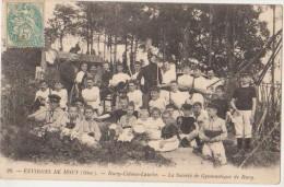 CPA 60 BURY Près Mouy Côteau Lauche La Société De Gymnastique Enfants Animation 1903 - France