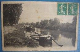 CPA: Thoissey (01) Pont De La Goutte, Bateaux - Autres Communes
