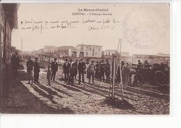 """Carte 1915 LE MAROC ILLUSTRE / KENITRA / L'AVENUE CENTRALE (très Animée)(tampon """"infirmerie,ambulance,le Médecin-chef"""") - Marruecos"""