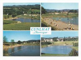 CPM - CUNLHAT (63) Base De Plein Air De La BARGE - Ensemble Ouest - Plan D'eau - Camping - Tennis - Cunlhat