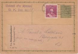 CSR; Postal Card CDV42 - To Denmark - Redirection Label - Scarce - Cartes Postales