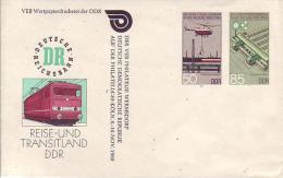 DU 3/1a**   Reise- Und Transitland DDR - Das Sozialistische Eisenbahnwesen - Private Covers - Mint