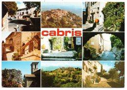 CP, 06, CABRIS, Alt. 550m, Ravissant Village Provençal Dominant Cannes Et Les Iles De Lérins, Multivues, Ecrite - Frankreich